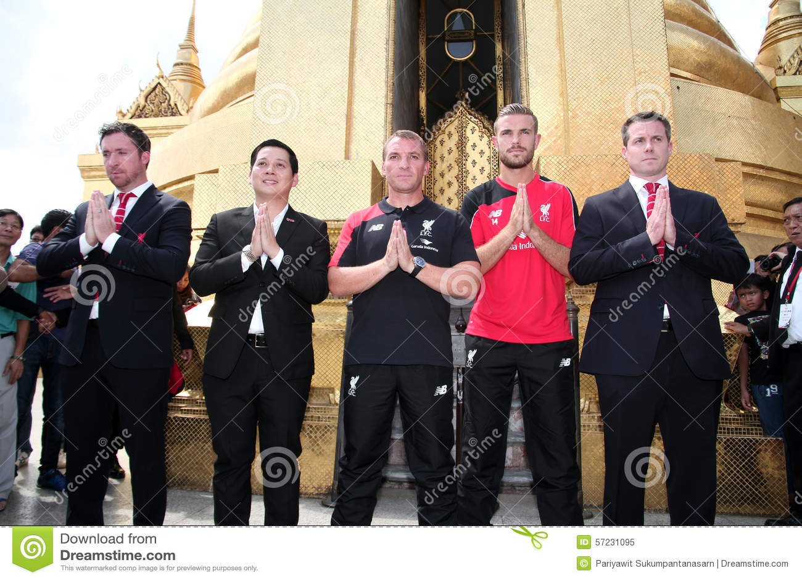 Brendan Rodgers Manager de Liverpool y Jordan Henderson