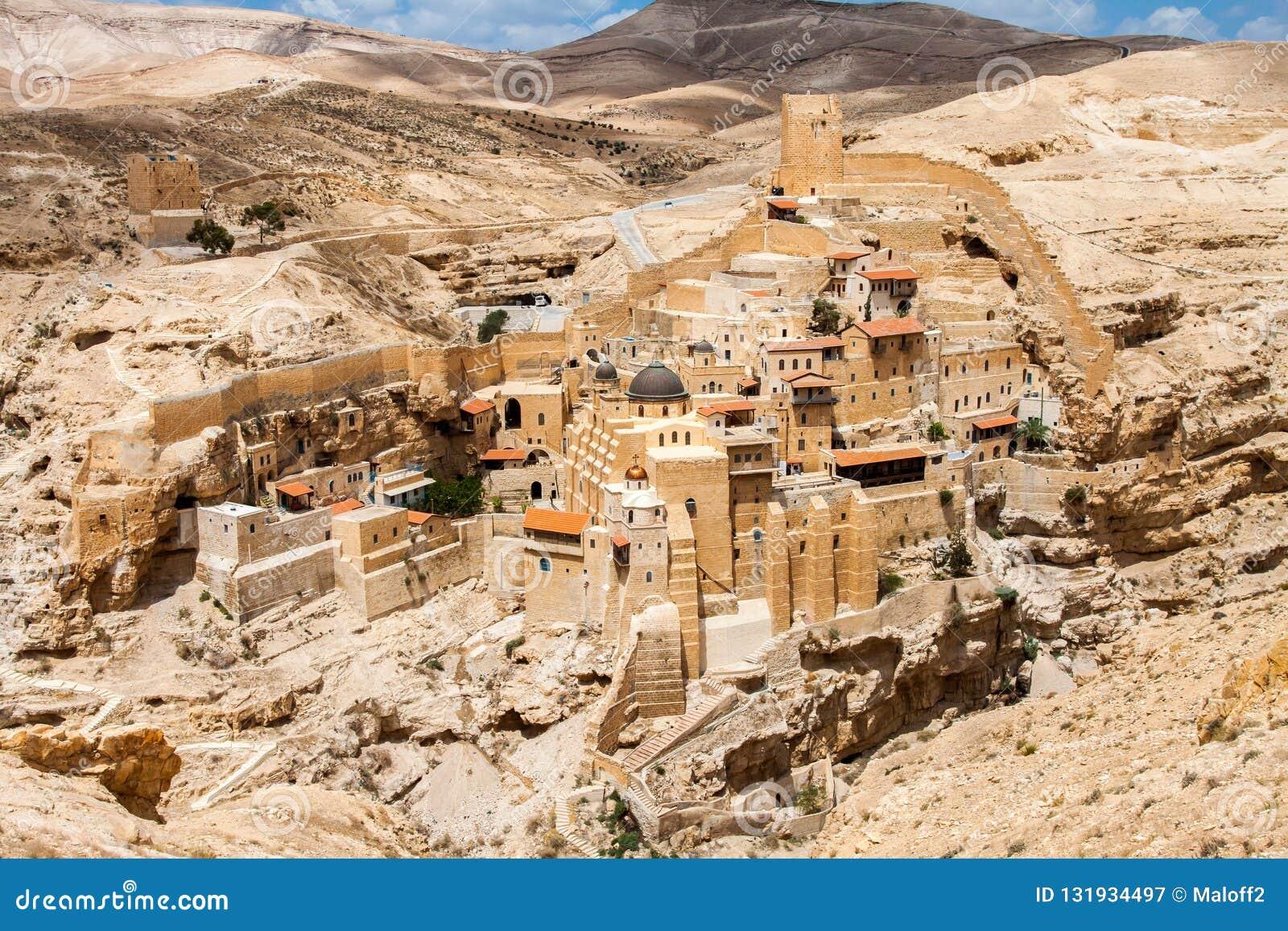 Breng Saba, Heilige Lavra van in de war Heilige Sabbas, Oostelijk Orthodox Christelijk klooster Cisjordanië, Palestina, Israël