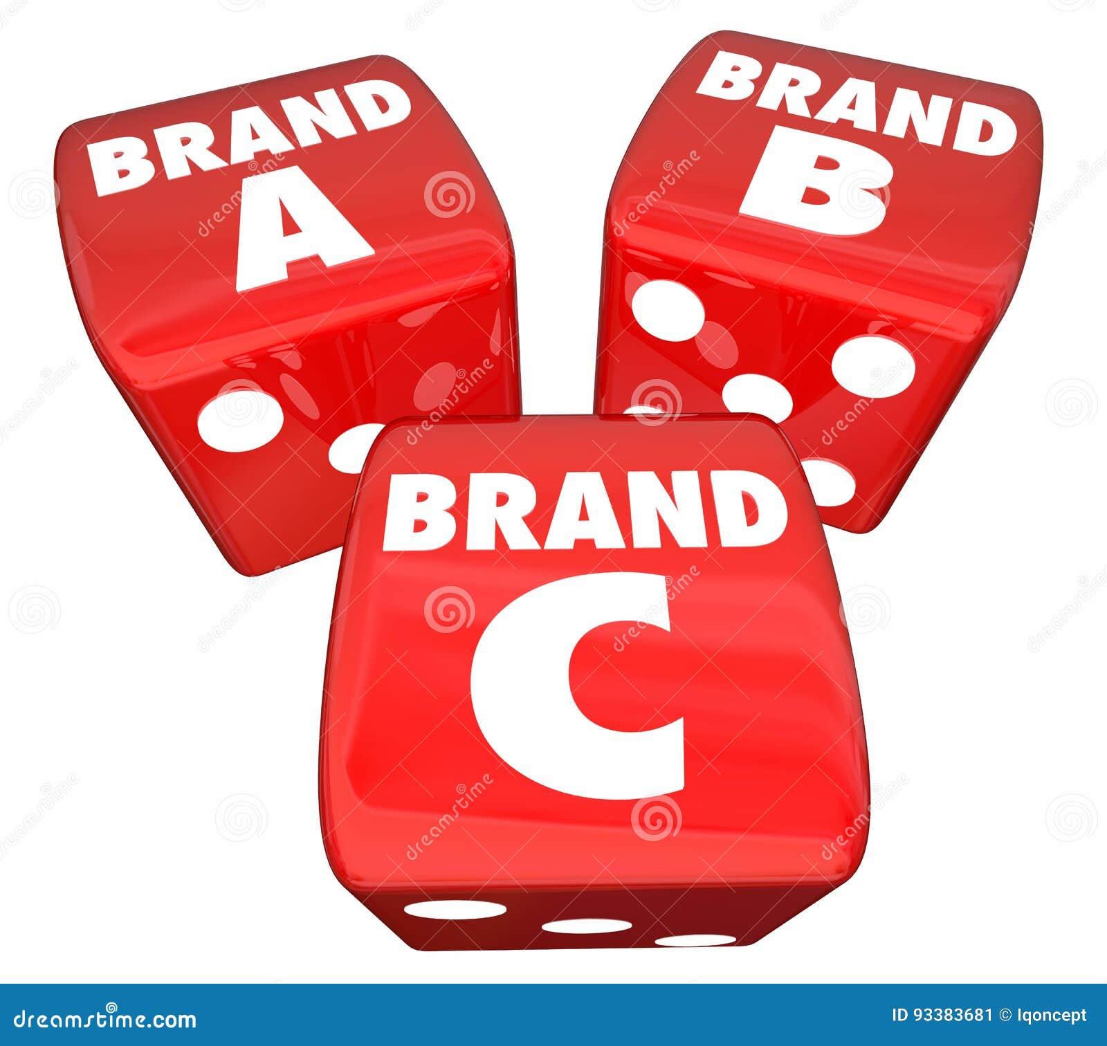 Brennen Sie ein Produkt B C Rolling Dice Choose Best Company ein