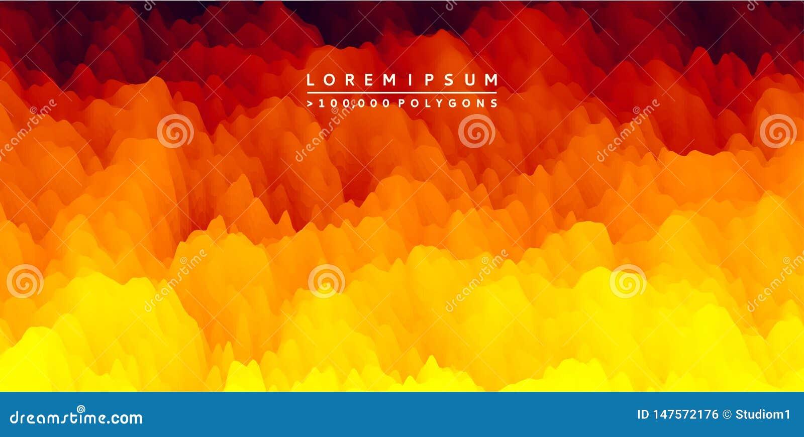 Brennende Feuerflammen entziehen Sie Hintergrund Modernes Muster Vektorabbildung f?r Auslegung