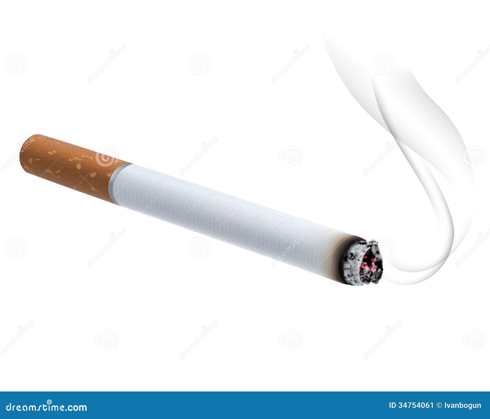 Brennende Zigarette Vektorillustration Stockbild Bild