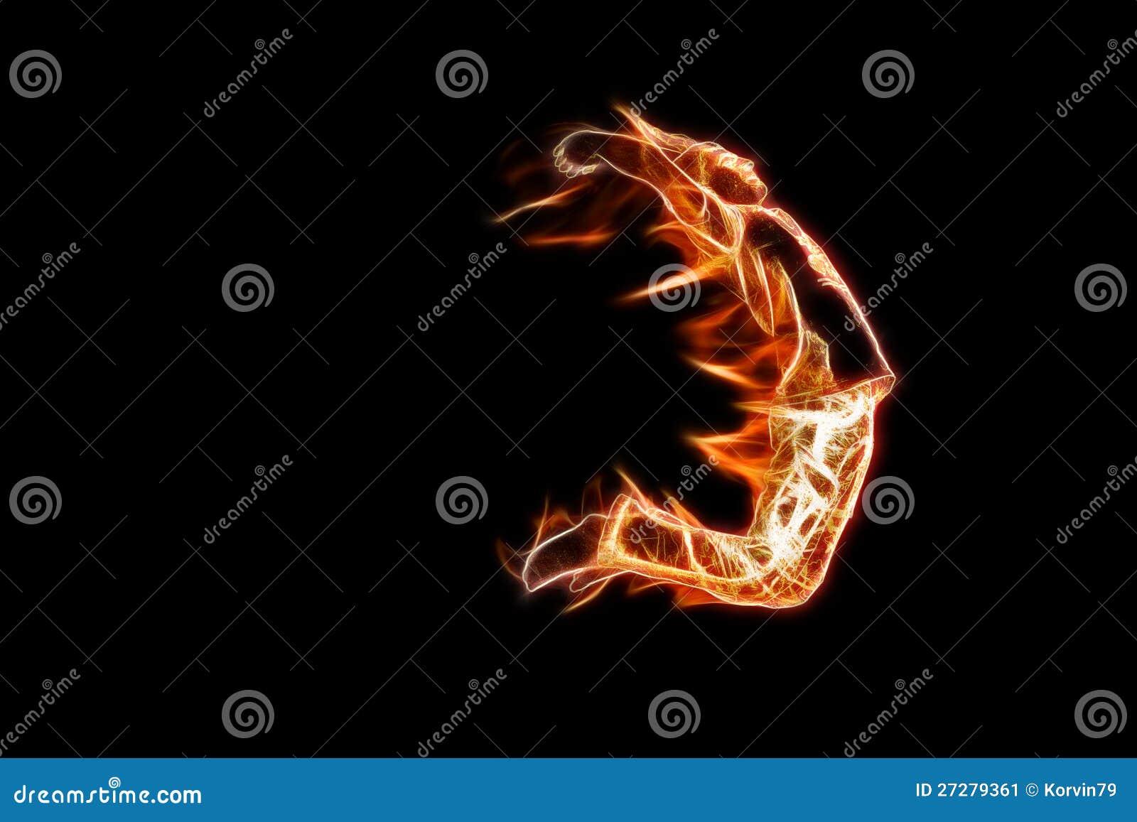 brennender mann stockbild bild von hei feuer junge 27279361. Black Bedroom Furniture Sets. Home Design Ideas