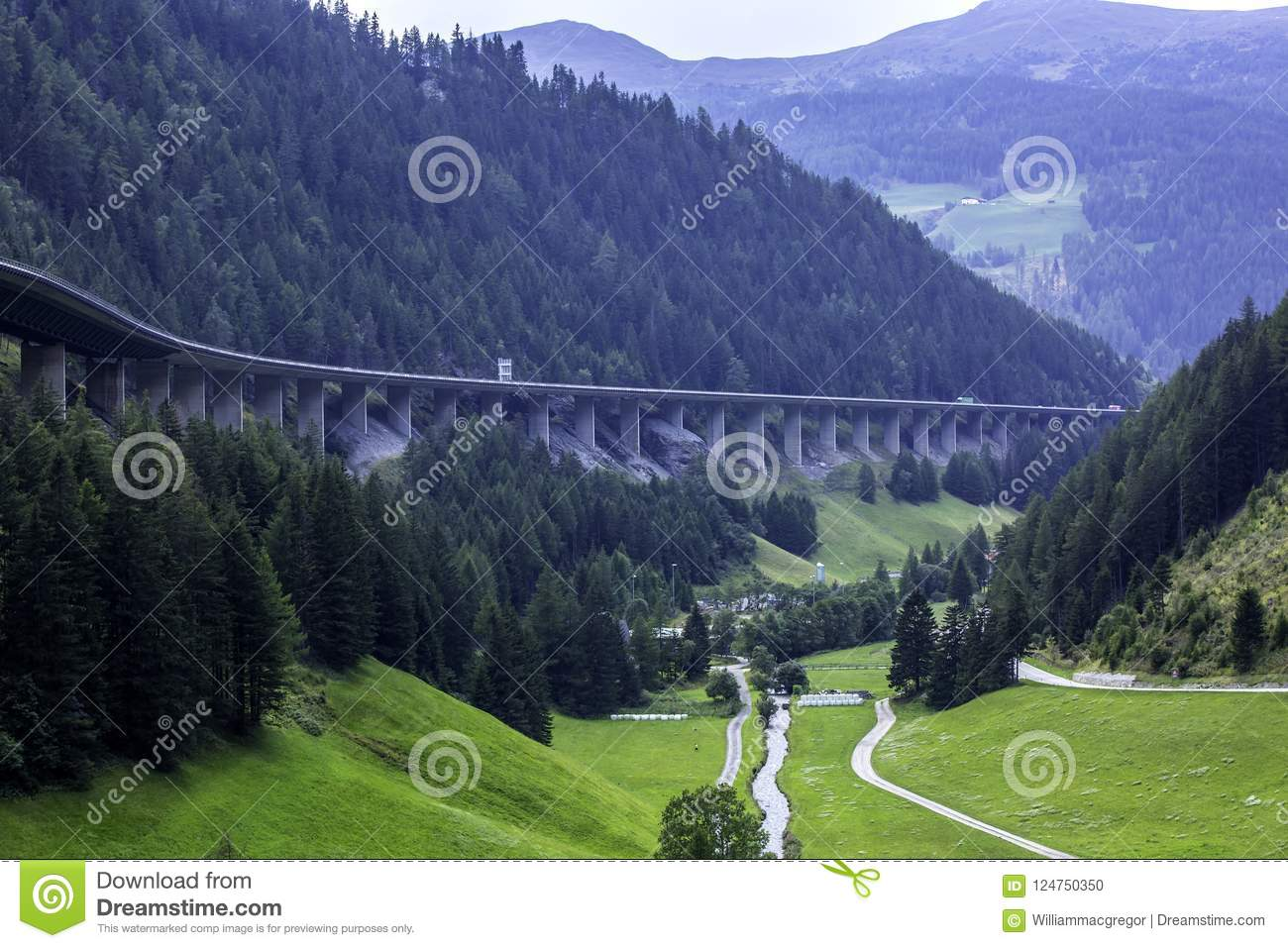 The Brenner Pass Autobahn
