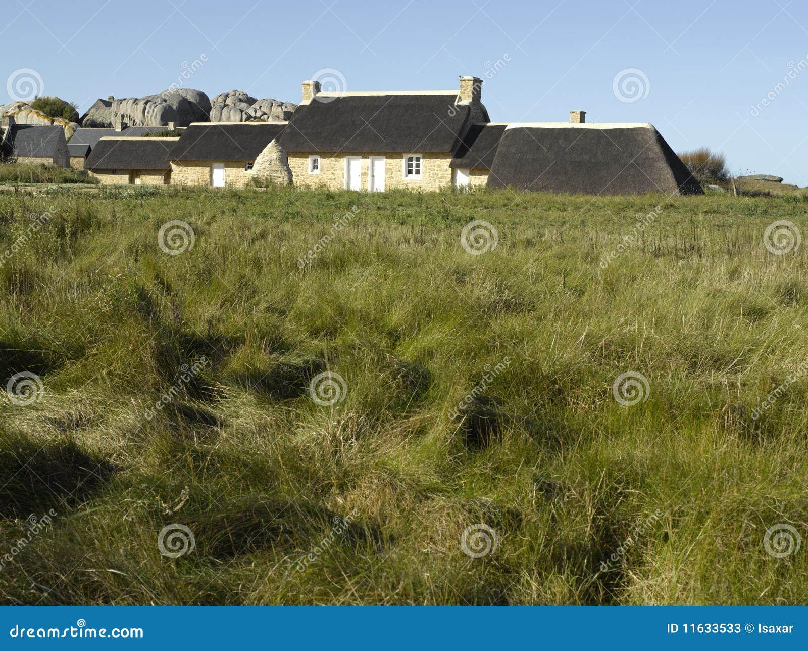 Bretagne, Finistere, Kerlouan - traditionelles Haus