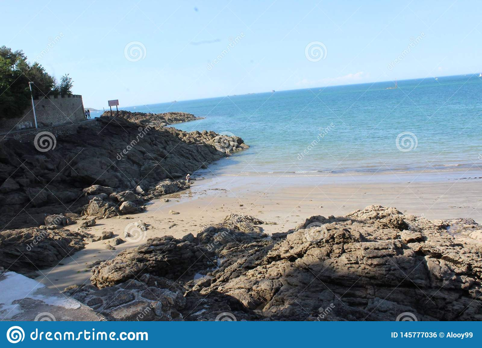 Bretagne Piękna plaża