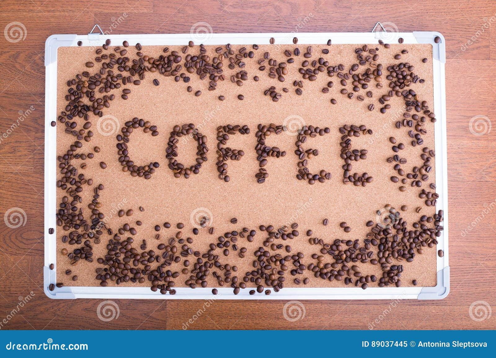 Brett bedeutet die Sitzungen, die Kaffee schriftlich sind