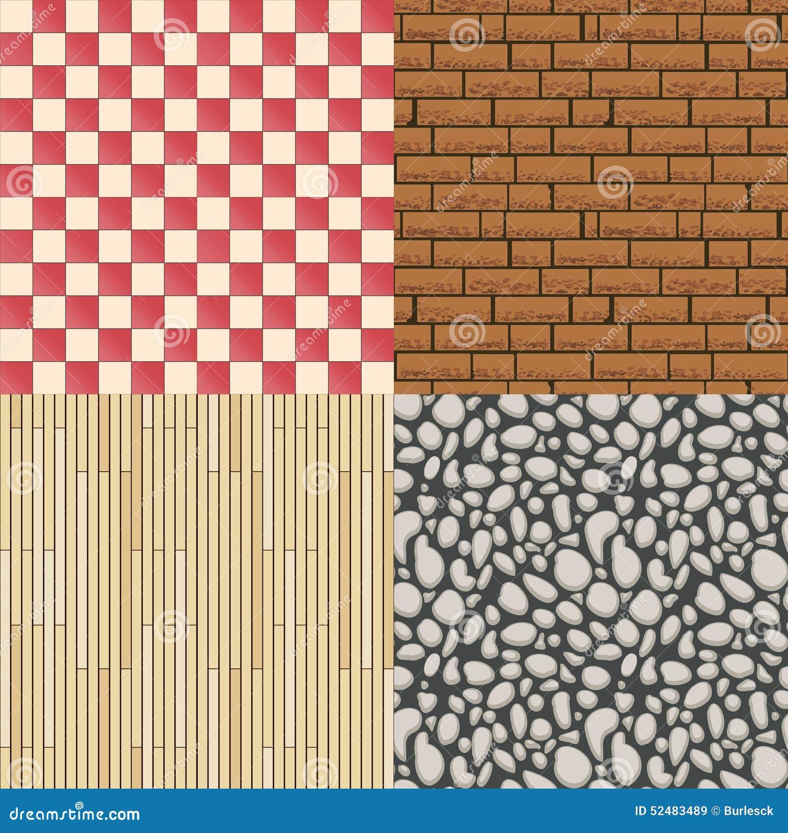 Bretterbodenbeschaffenheit, Steinmuster Und Fliesen Vektor Abbildung ...