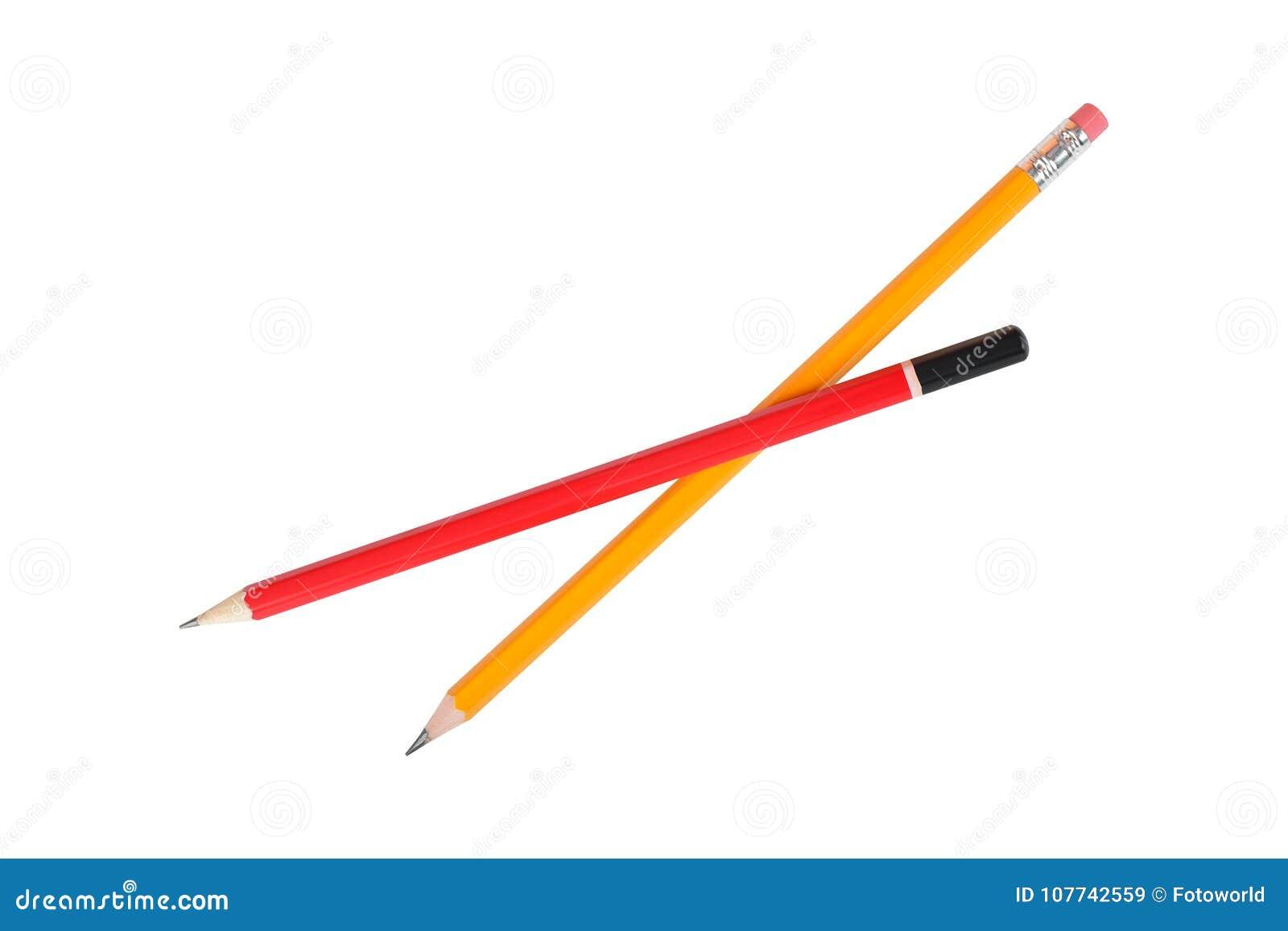 Brevpapper - blyertspenna för två grafit isolerat