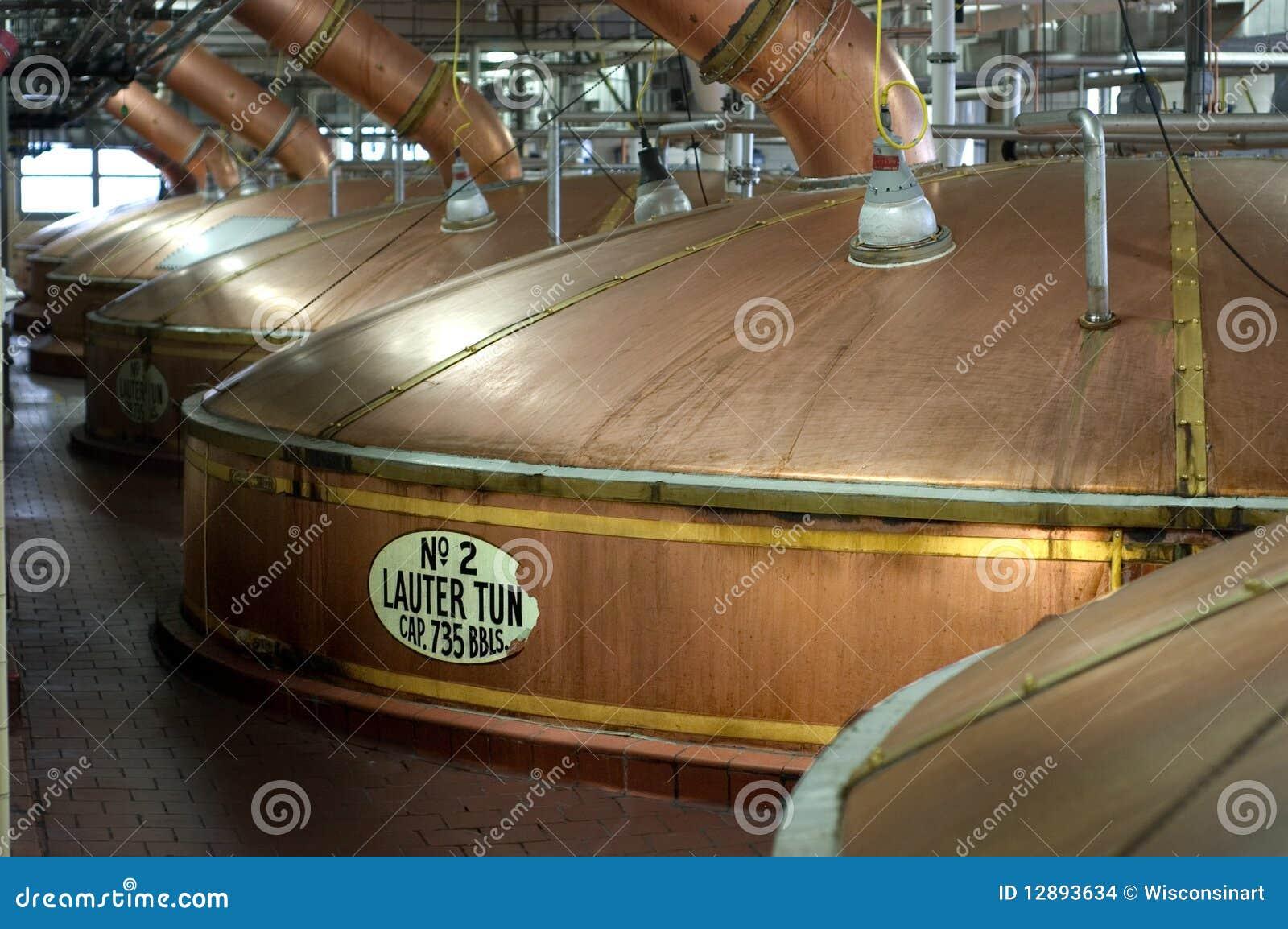 Brewery Beer Lauter Tun Kettles, Miller Beer