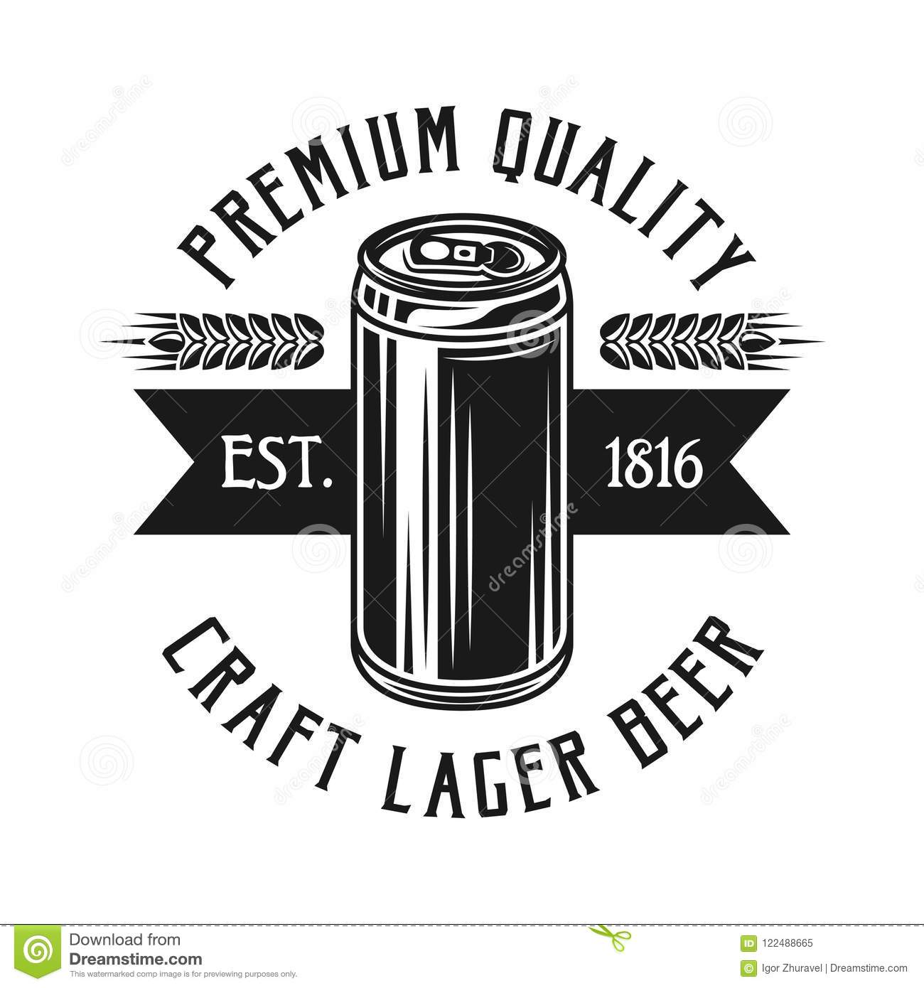 It is a graphic of Challenger Black Label Beer Logo