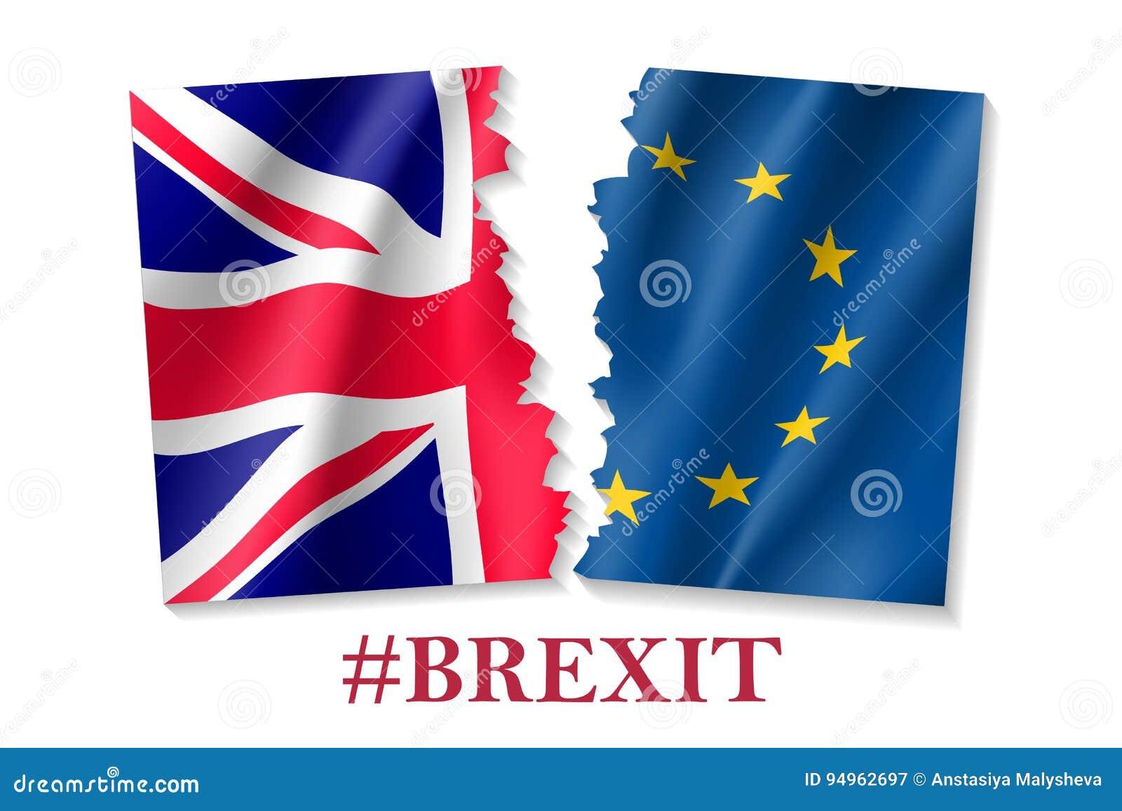 Brexit标志的传染媒介例证