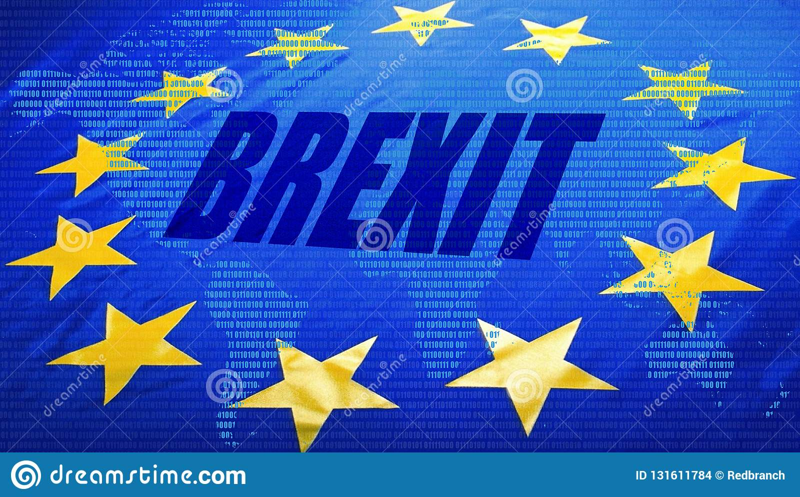 Brexit, bandera de la UE y mapa del mundo
