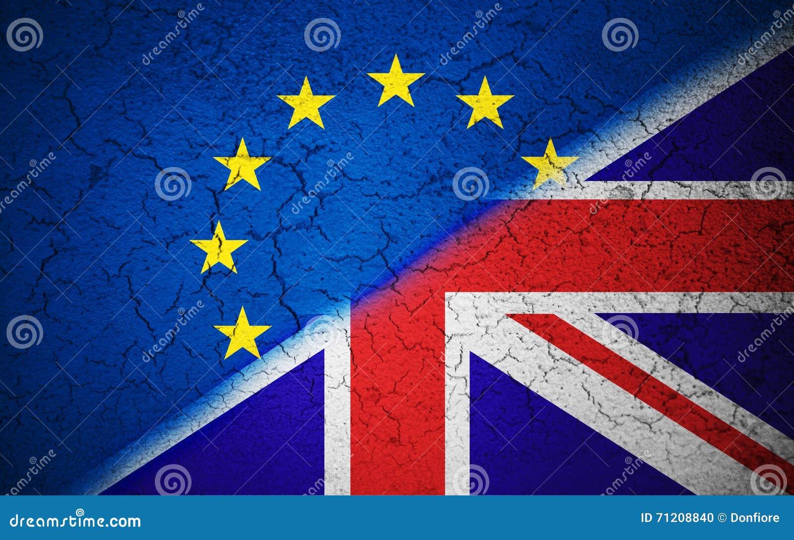 Flag Of European Union. Brexit. Stock Photo
