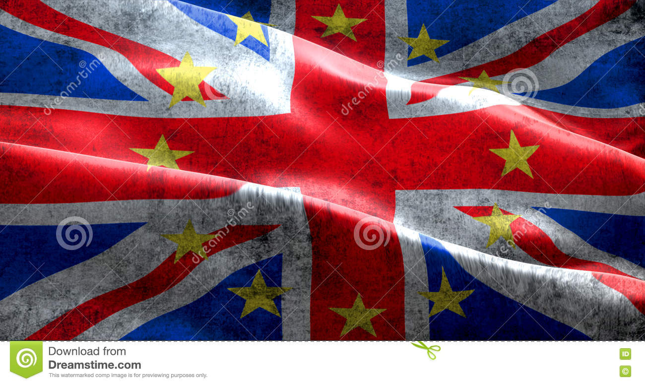 brexit grunge uk england great britain flag with european union eu