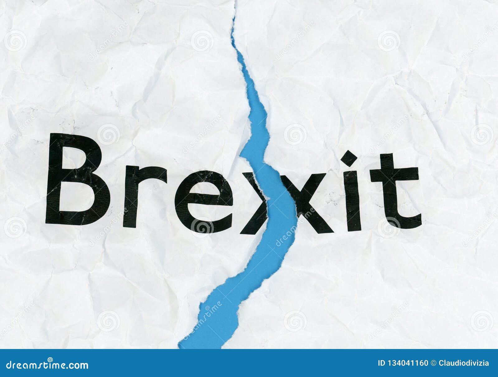 Brexit op gescheurd document