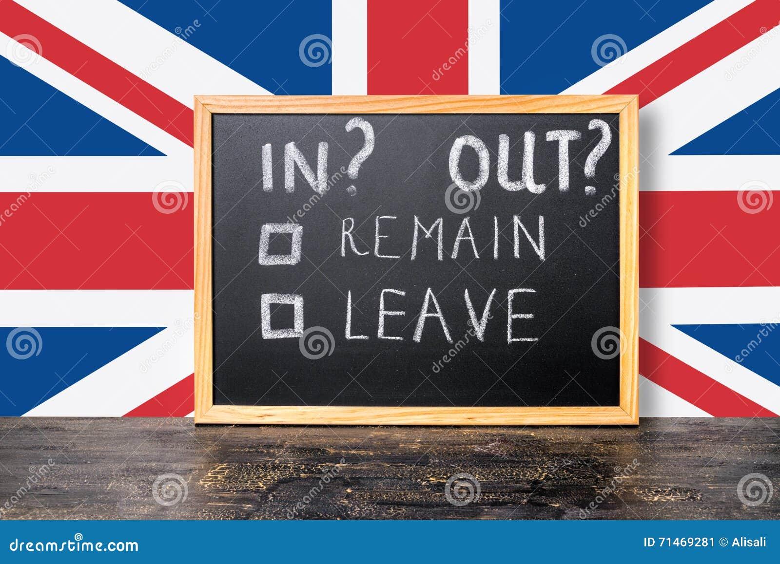 Brexit UE referendum UK pojęcie z flaga i handwriting tekstem ja