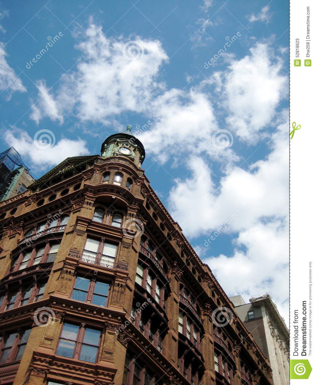 Brick Apartment Building Against Sky Stock Photo Image 52818623