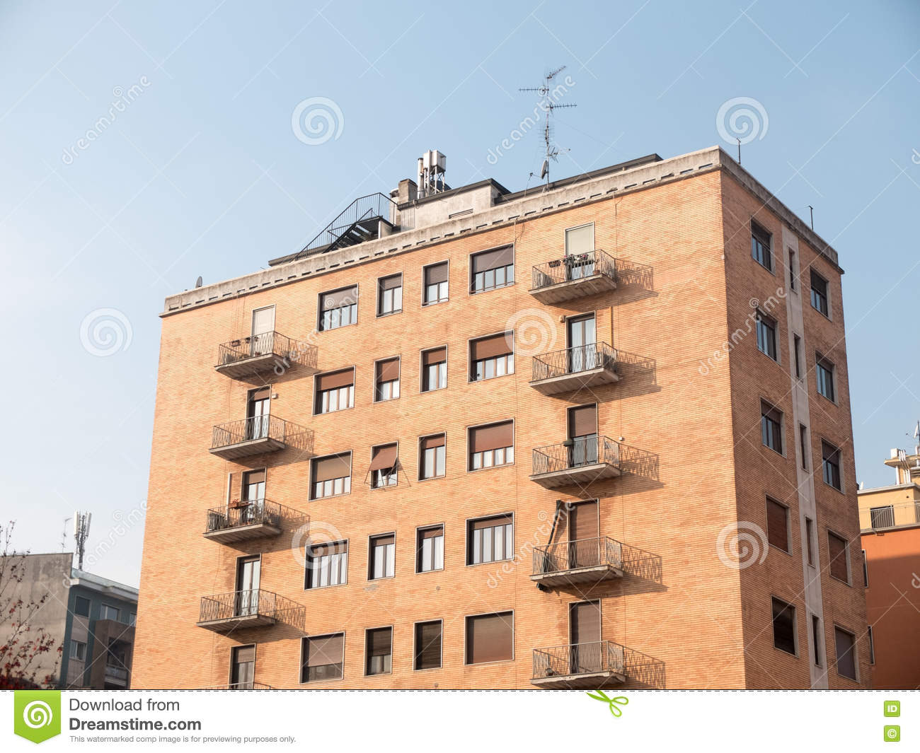 Small brick building royalty free stock photo for Brick house construction