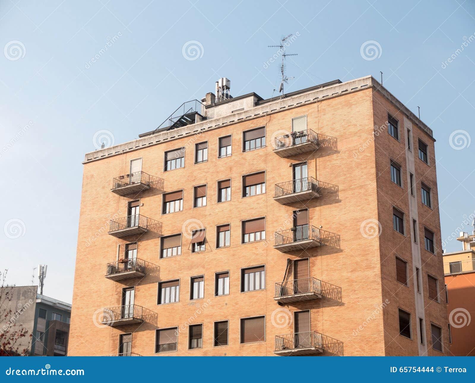 Brick Apartment Building Balcony The Hippest Pics
