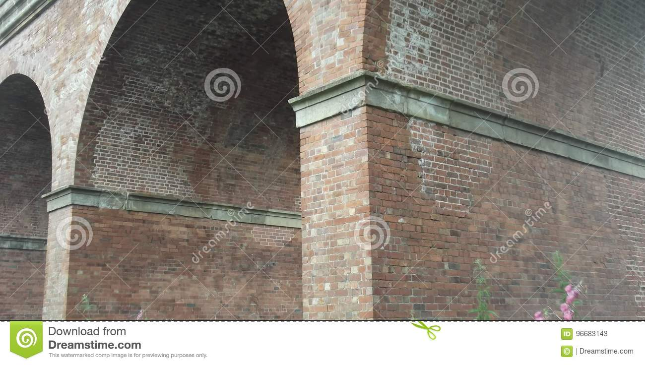 Brick arches of a railway viaduct