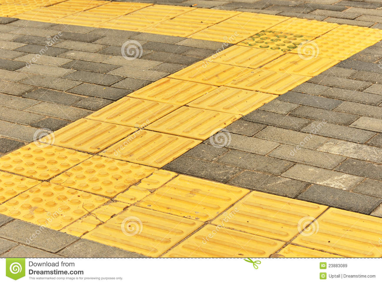 Brick Blind Sidewalks Royalty Free Stock Images Image