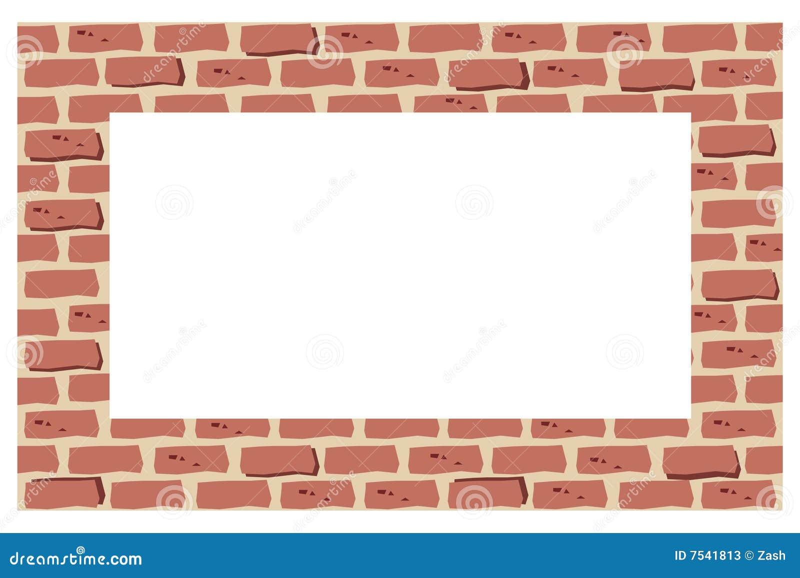 Old brick wall as a frame 01 stock photo image 18377500 - Filename Brick Border Frame 7541813 Jpg