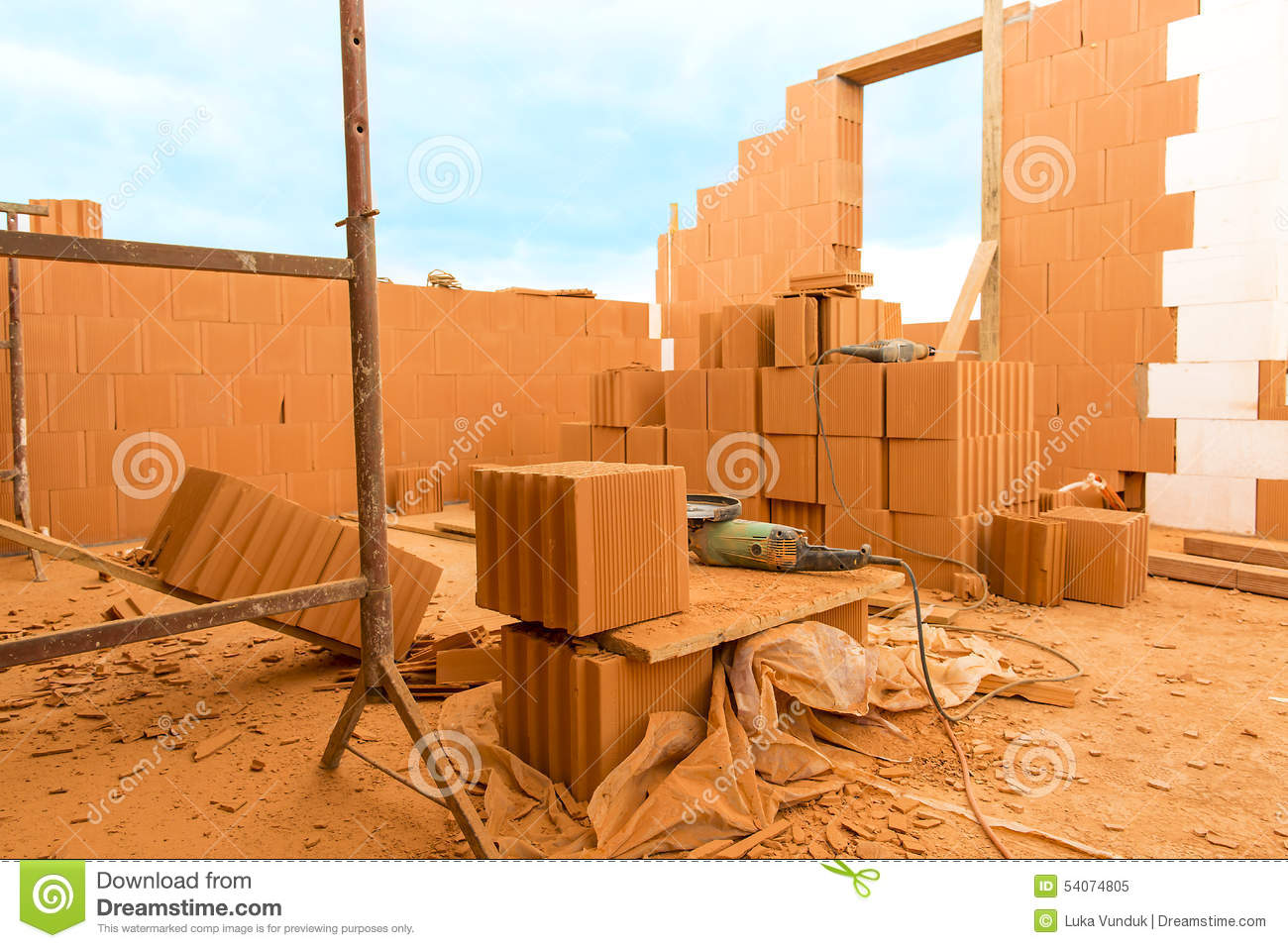 Brick by brick build a house on your own stock image for Build your own home website