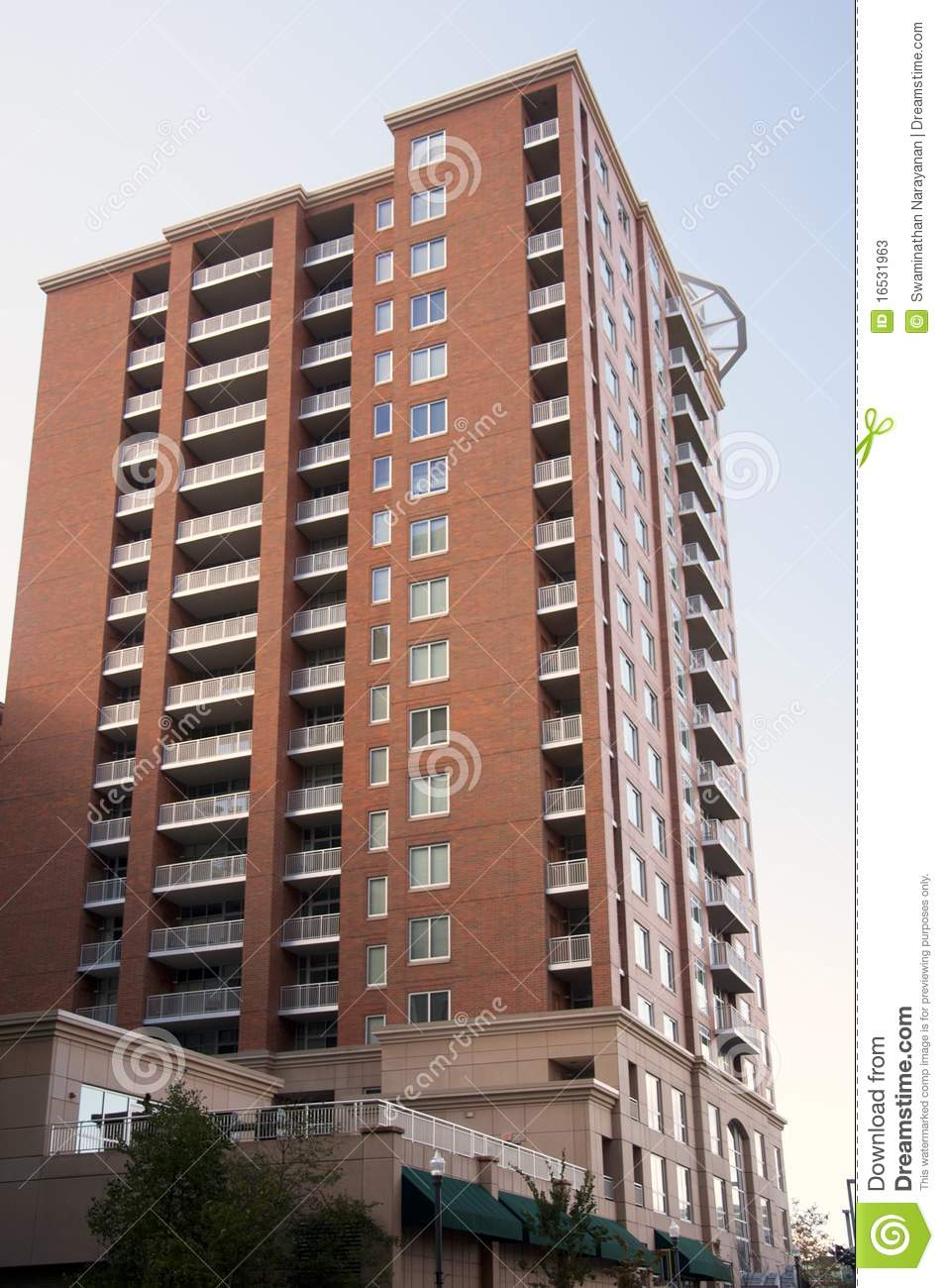 Brick Apartment Building Illustration. Brick building stock image  Image of apartment brick 16531963