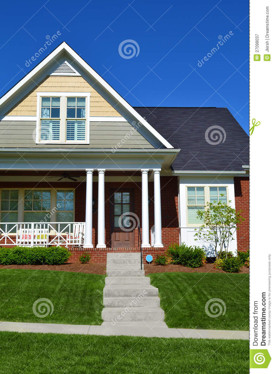 Brick cape cod house stock image image of friendly for Cod home