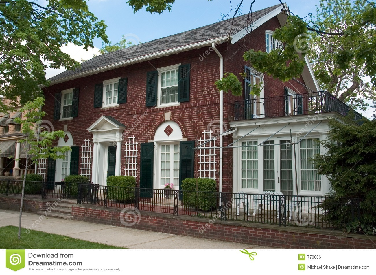 Brick colonial home stock photo image of house home for Brick colonial house plans