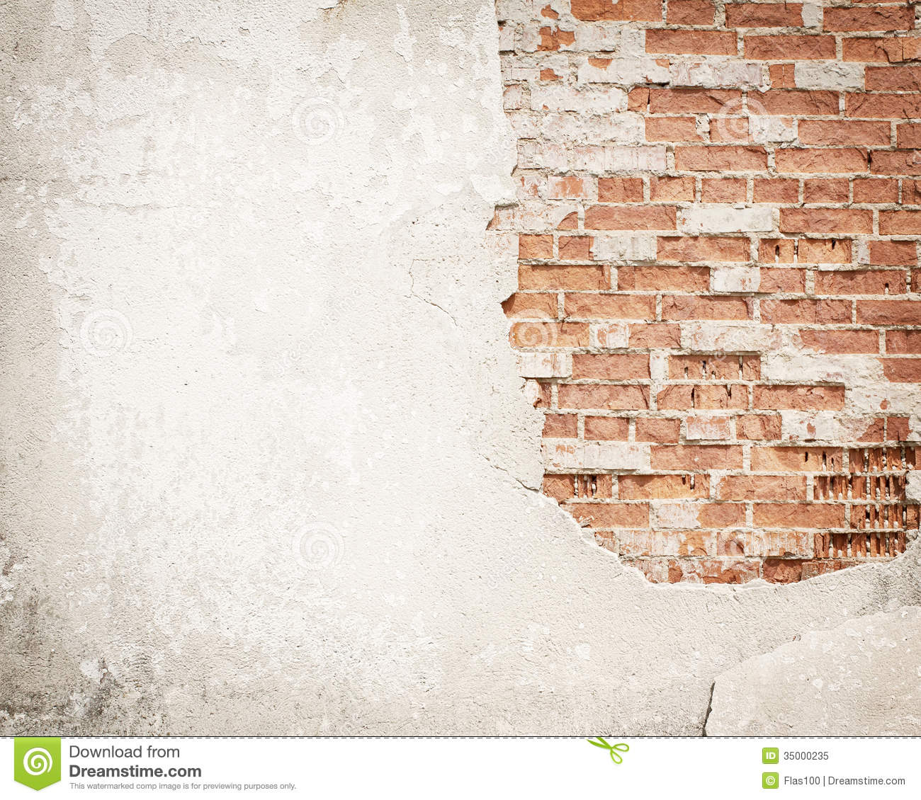 Rust Cement Wall : Brick concrete grunge wall background stock image