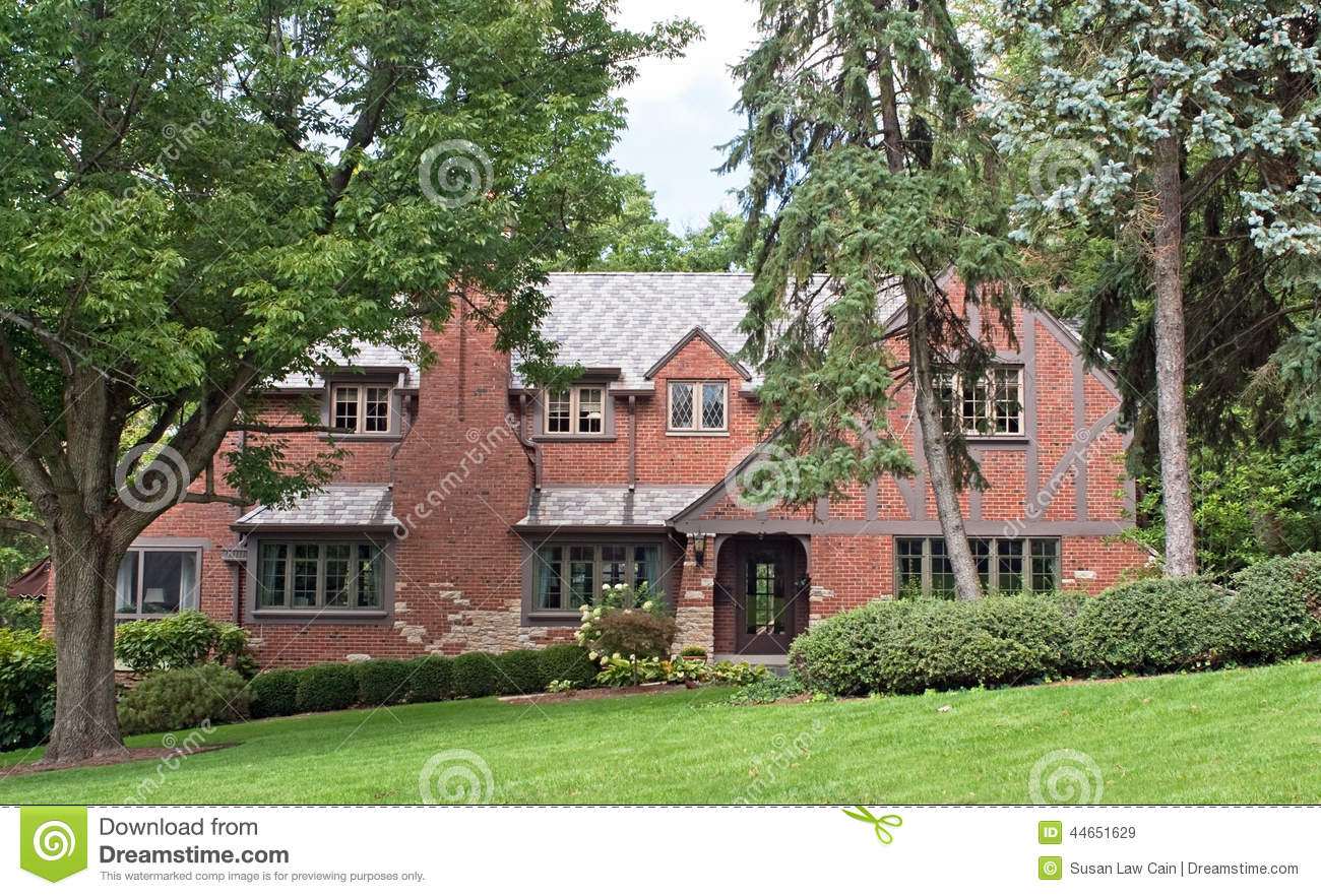 Brick English Tutor Home Stock Photo Image 44651629