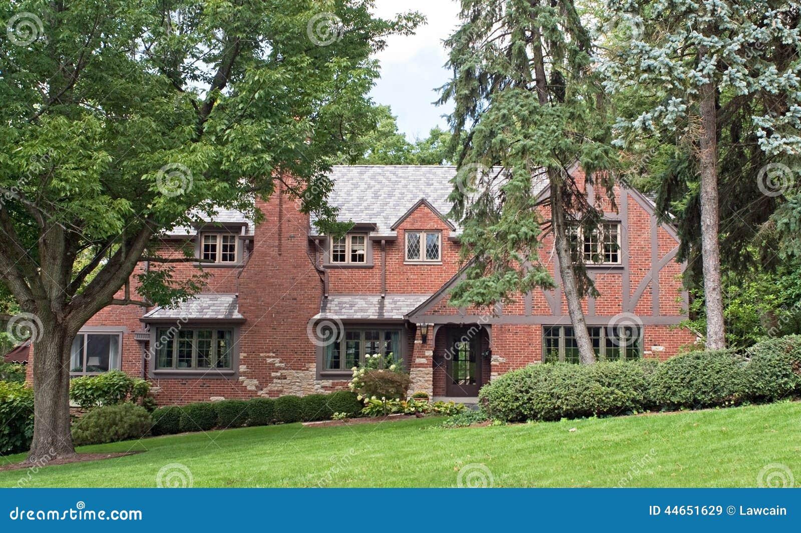 Brick english tutor home stock photo image 44651629 for Tutor house