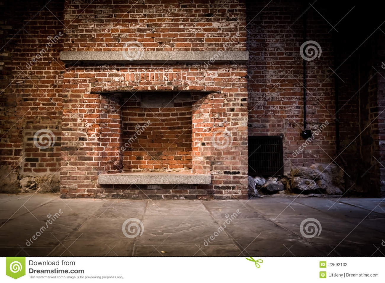 Brick Fireplace Background Stock Photo Image Of Dirty