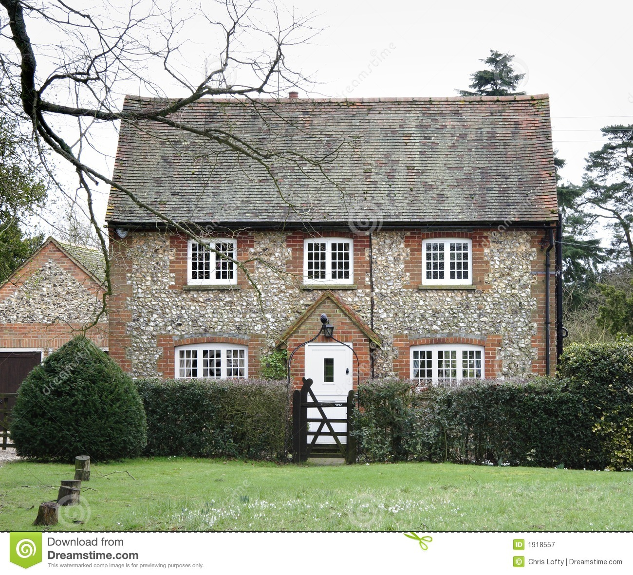 Brick And Flint House Royalty Free Stock graphy Image