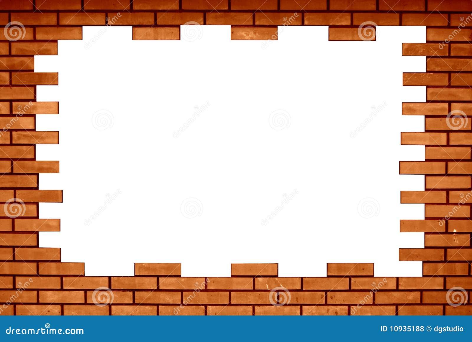 Old brick wall as a frame 01 stock photo image 18377500 - Filename Brick Frame 10935188 Jpg