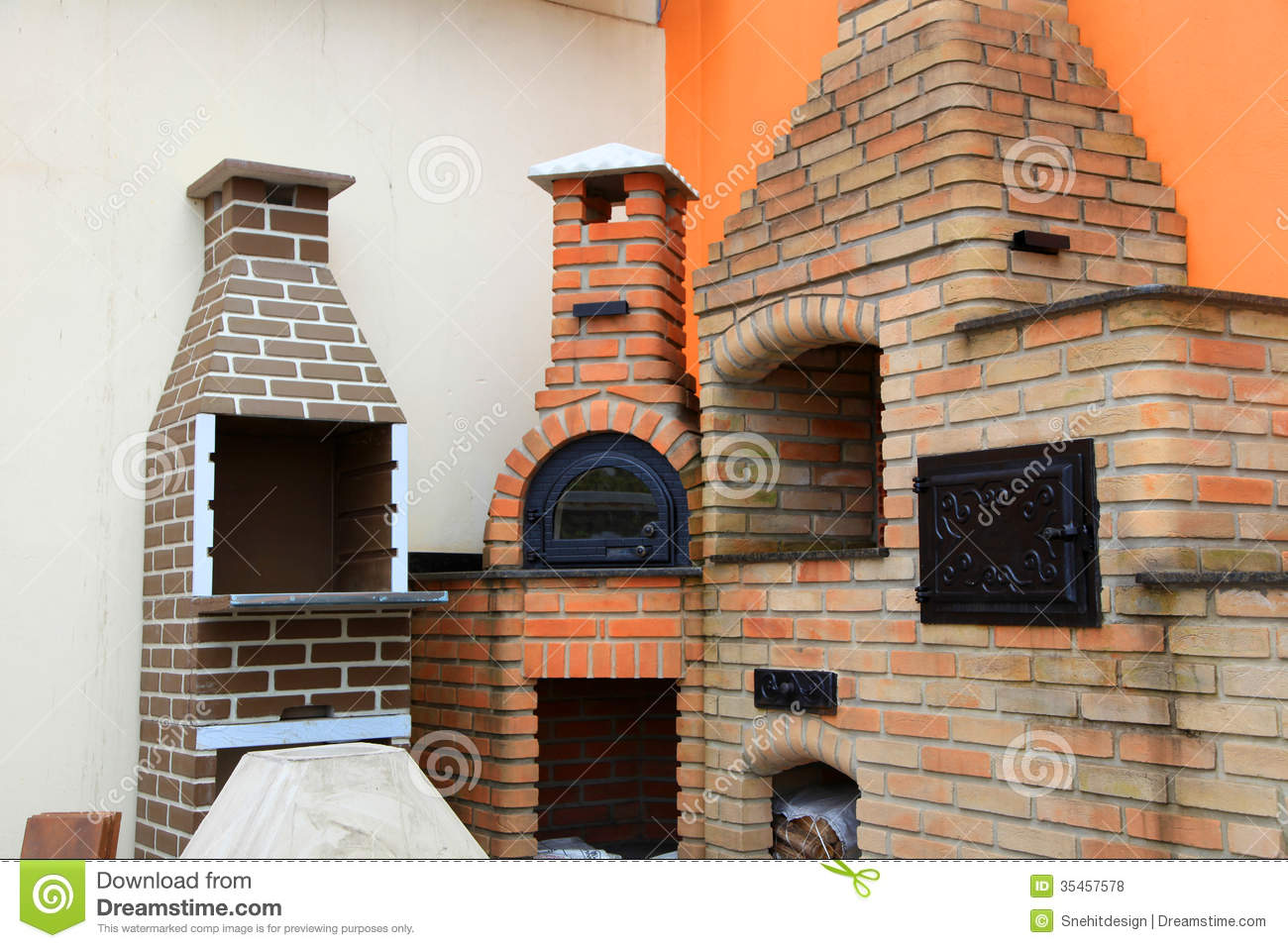 Brick Grills Royalty Free Stock Photos - Image: 35457578