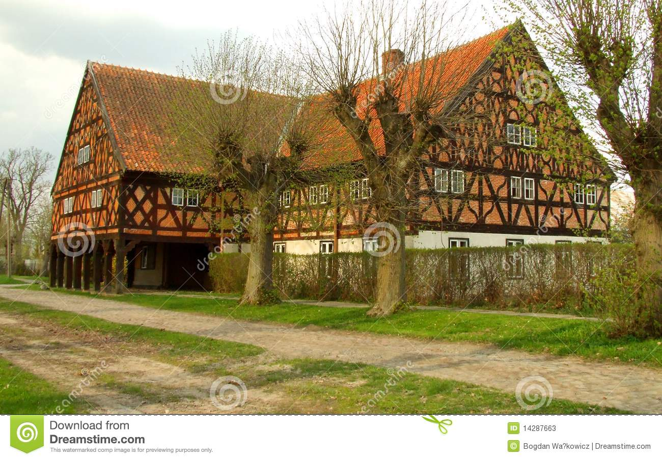 Brick and half timbered house stock photos image 14287663 for Half timbered house plans