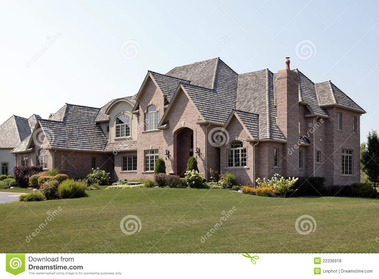 Brick home with arches