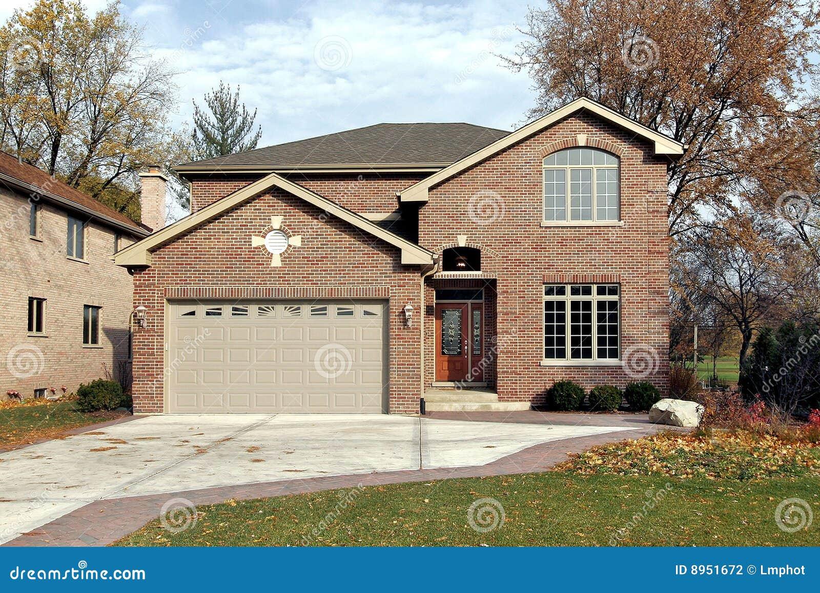 Brick home in fall