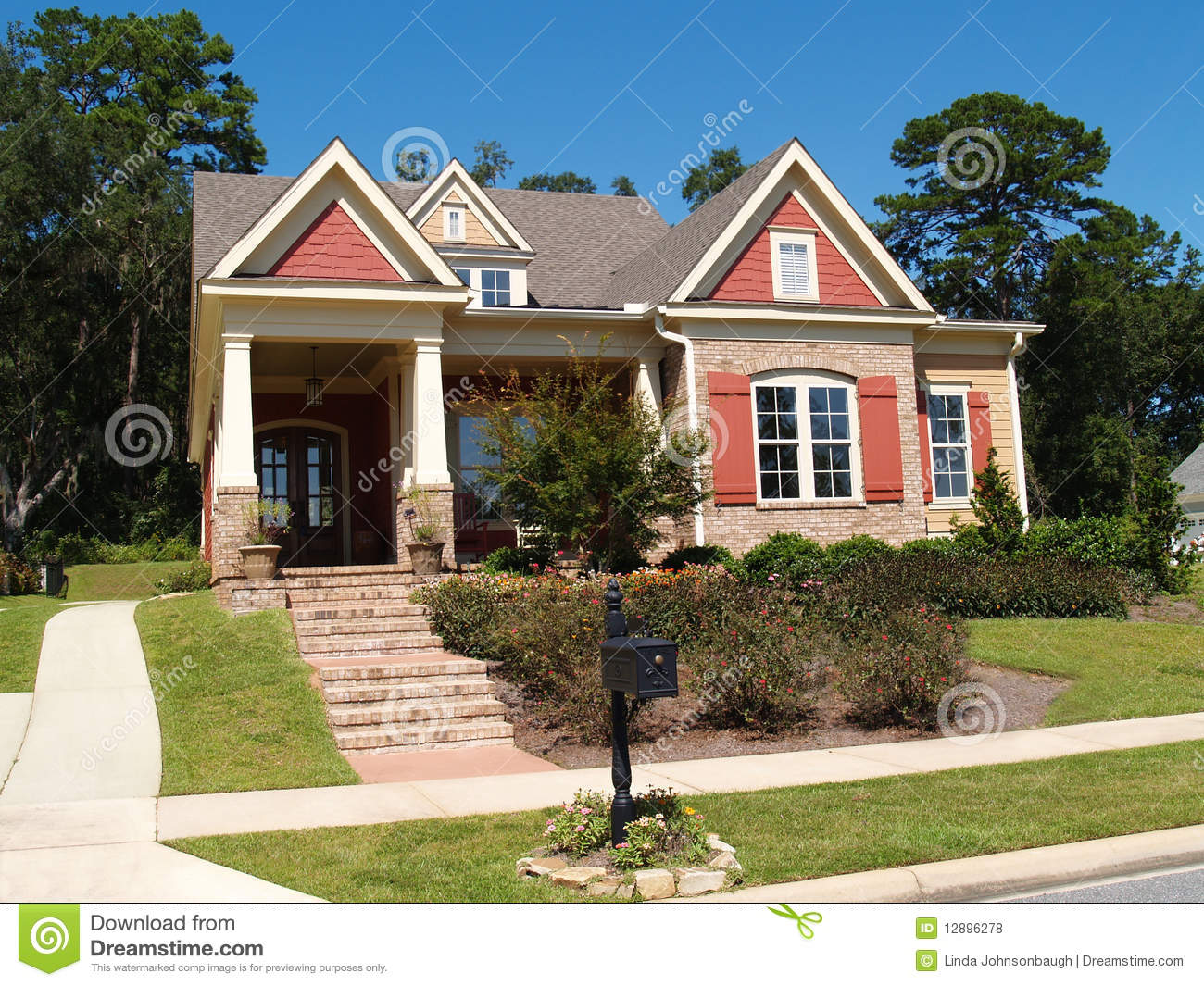 appealing living room stairs royalty free stock image 27532276 | Brick Home With Porch And Gables Royalty Free Stock Photos ...