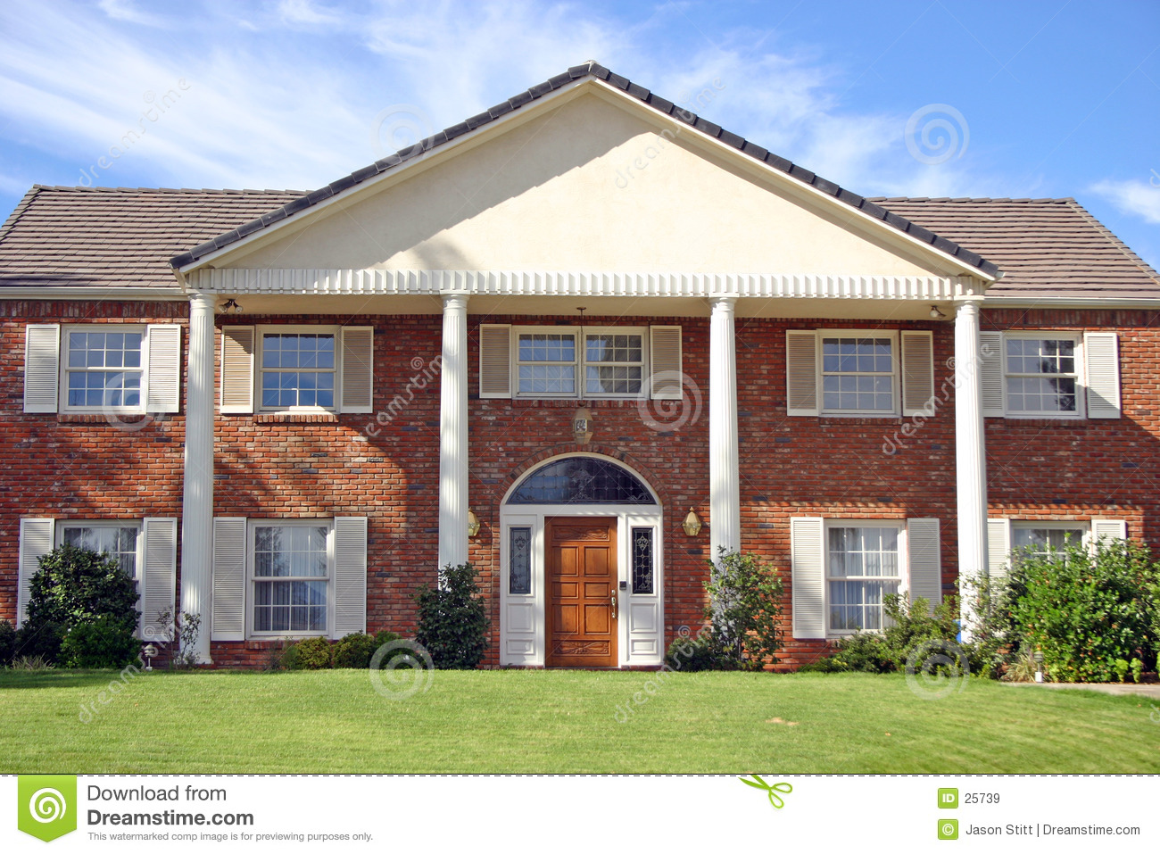 Brick house royalty free stock images image 25739 for Brick home construction
