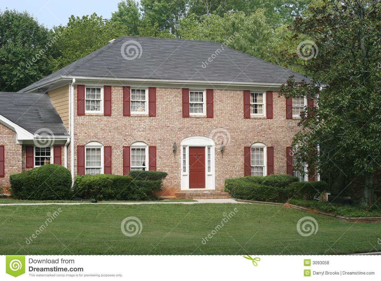 Trim colors for red brick houses - Royalty Free Stock Photo Download Brick House Red Trim