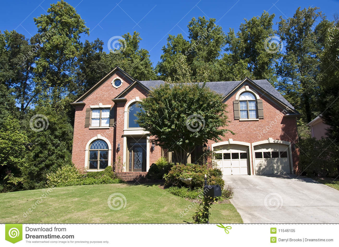 Brick House With Vines On Mailbox Royalty Free Stock Photo ...