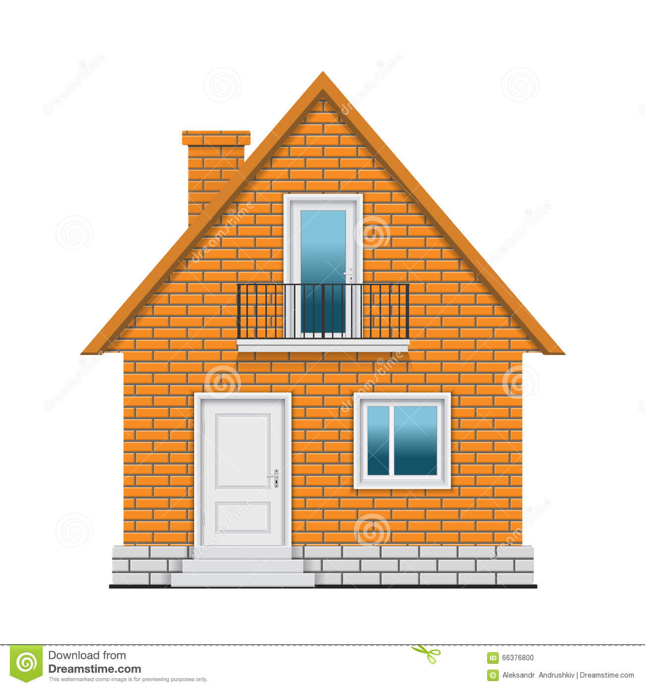 Brick House Stock Vector Image 66376800