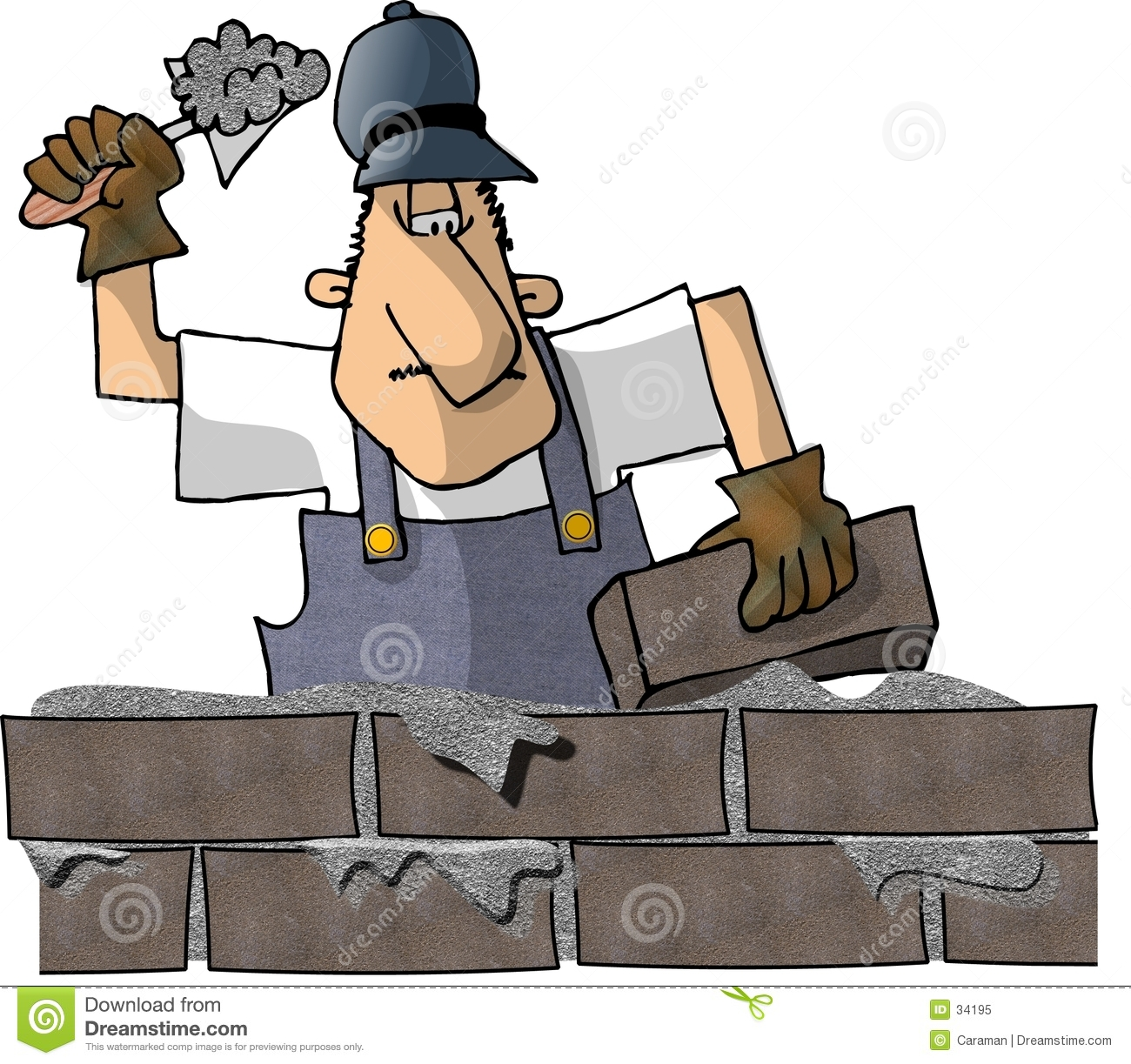 Brick Layer Royalty Free Stock Photo Image 34195