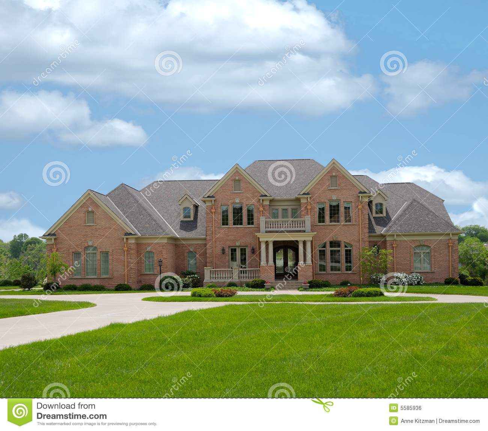 Brick Mansion In Kentucky USA Royalty Free Stock Image ...