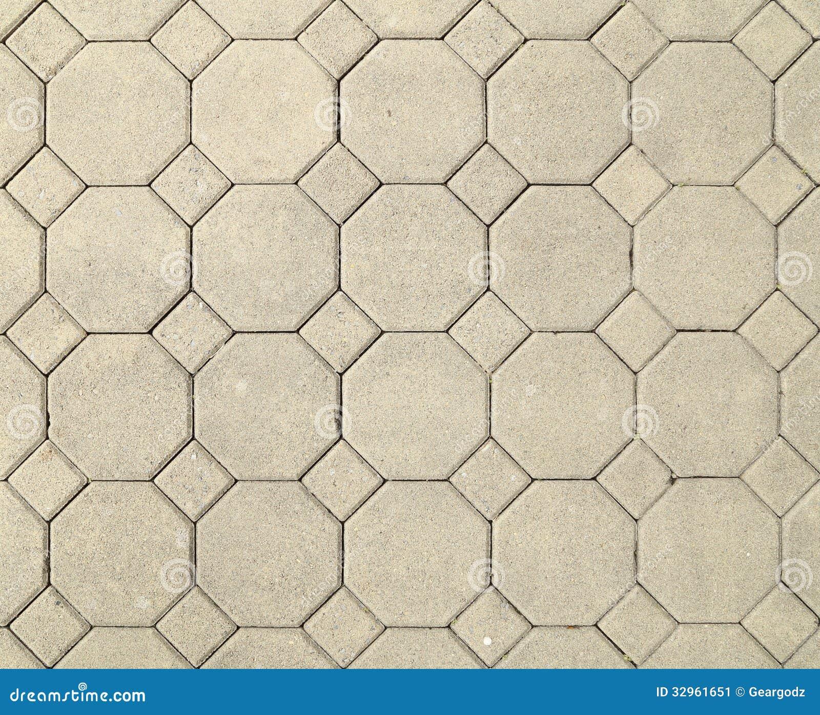 Brick Octagonal Walkway Pavement Texture Stock Image