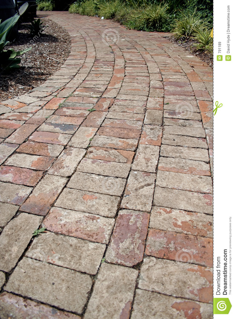 Brick Path Stock Image Image Of Stroll Step Walk Lane