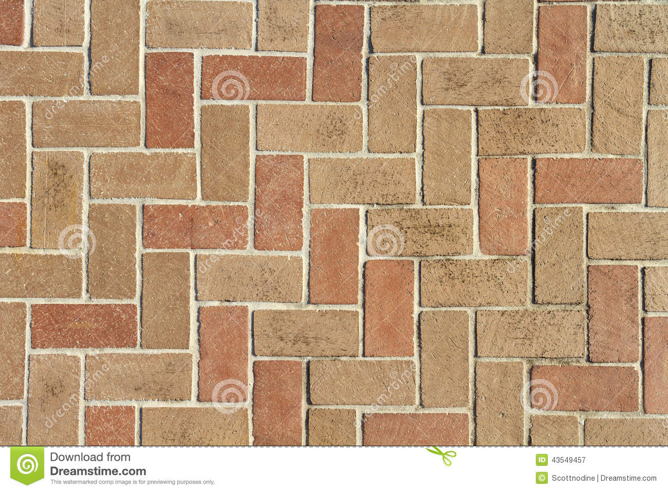 Brick Pavers Background Texture From Above Stock Photo